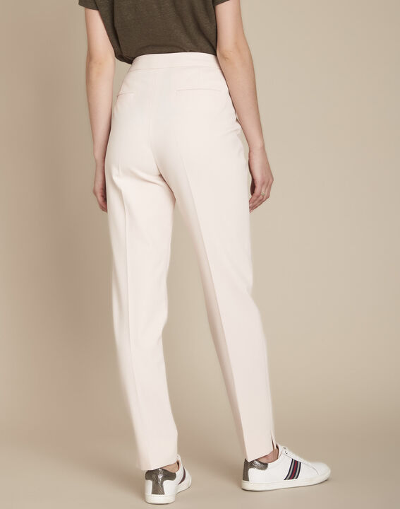 Lara powder-coloured cigarette trousers (4) - Maison 123