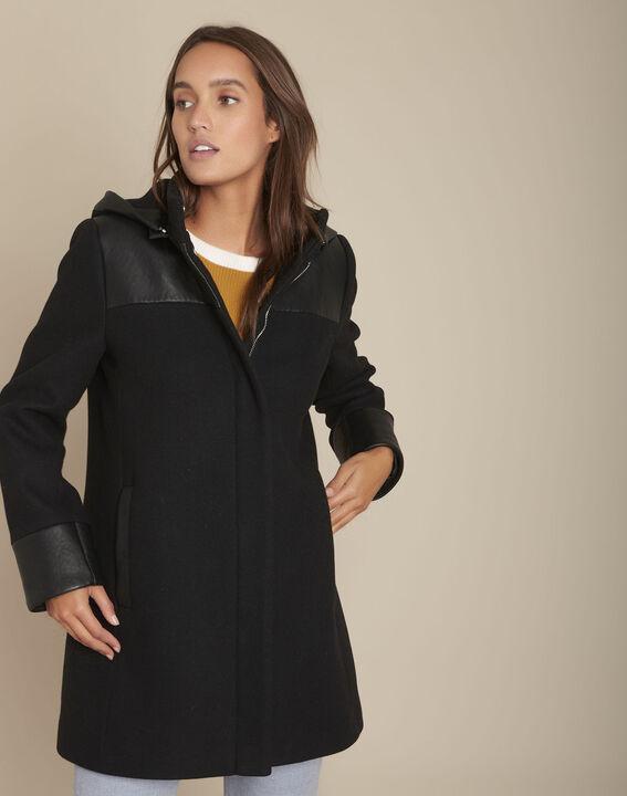 Princess black wool blend coat PhotoZ   1-2-3