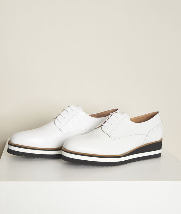 Naelle white platform sole Derby shoes PhotoZ | 1-2-3