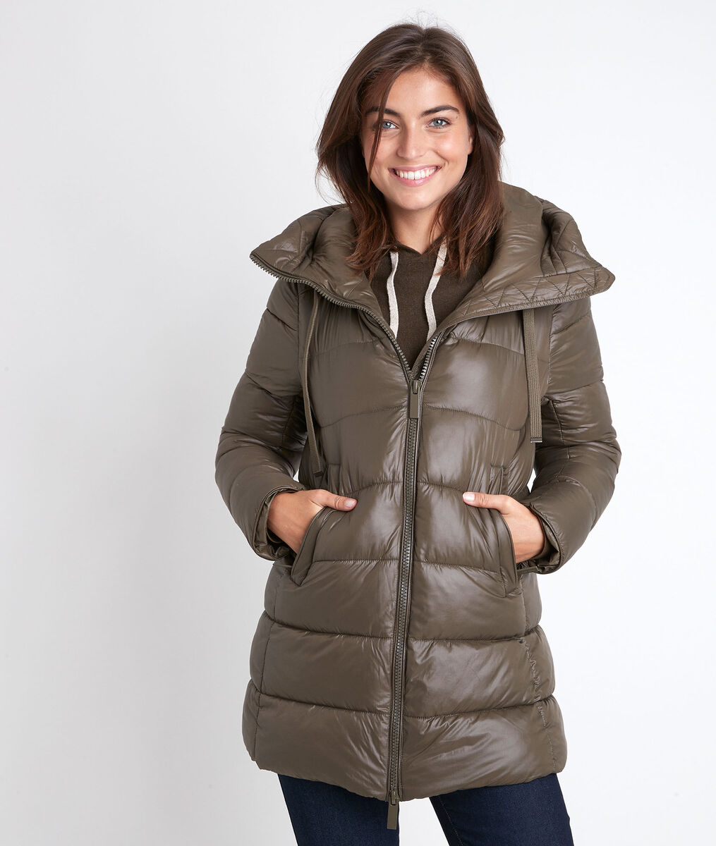 Boko khaki 3/4-length down jacket PhotoZ | 1-2-3