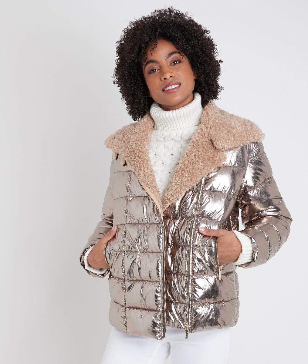 Bisako short gold-coloured down jacket PhotoZ | 1-2-3