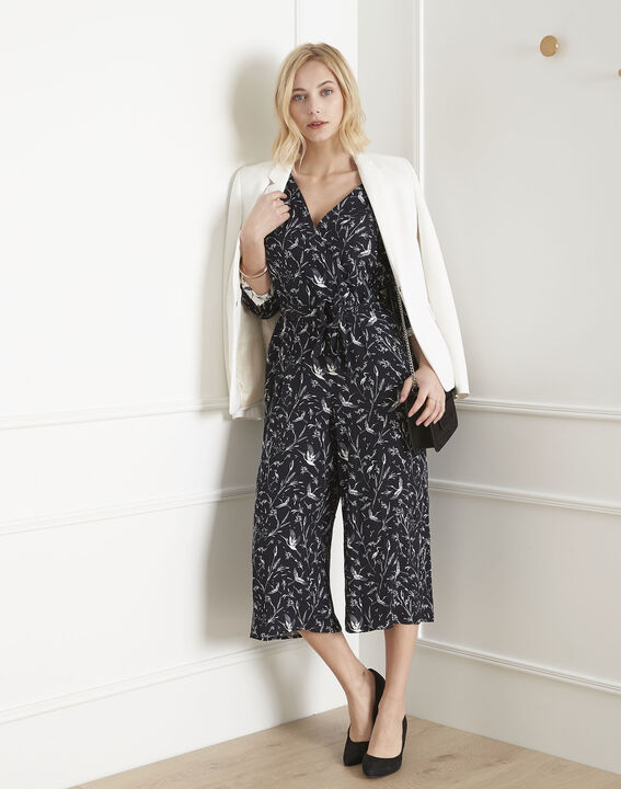 Logane black floral print jumpsuit PhotoZ | 1-2-3