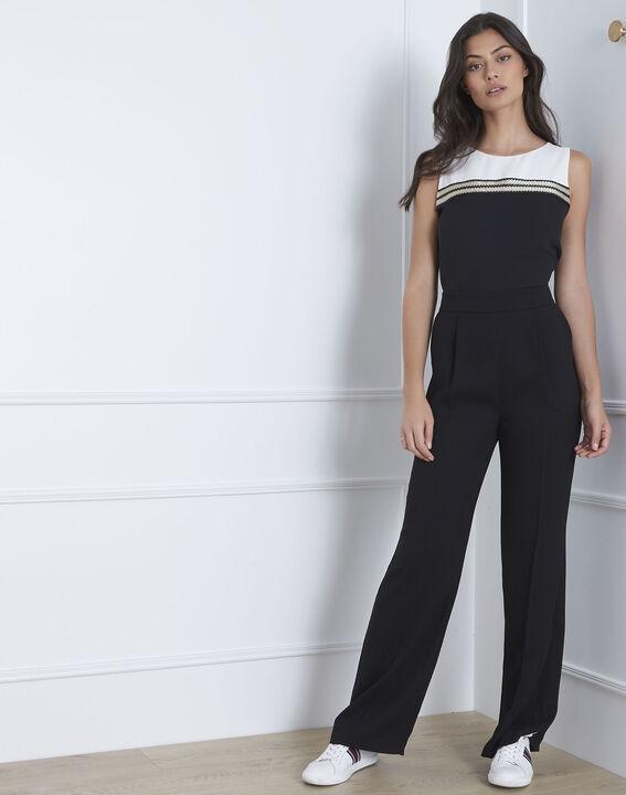 Honey black jumpsuit with lurex detailing (1) - Maison 123