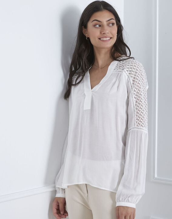Valy ecru lace blouse (1) - Maison 123
