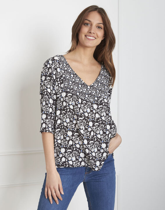 Valeur navy print blouse PhotoZ | 1-2-3