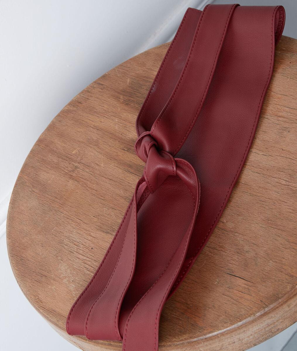 Raul burgundy leather tie belt PhotoZ | 1-2-3