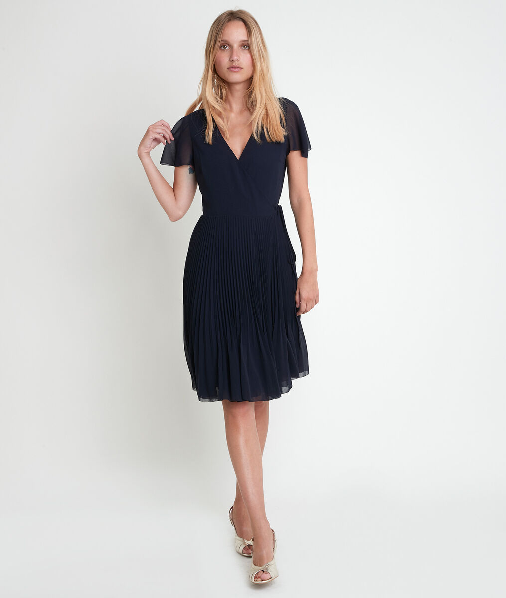 Marinette pleated wrap dress PhotoZ | 1-2-3
