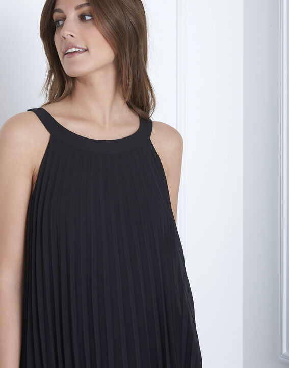 Nice black long pleated dress (3) - Maison 123