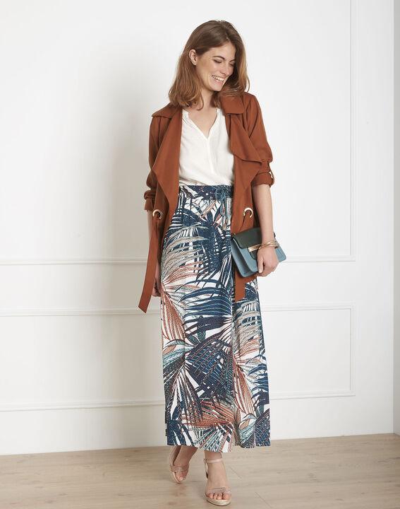 Lucious long palm print skirt PhotoZ | 1-2-3