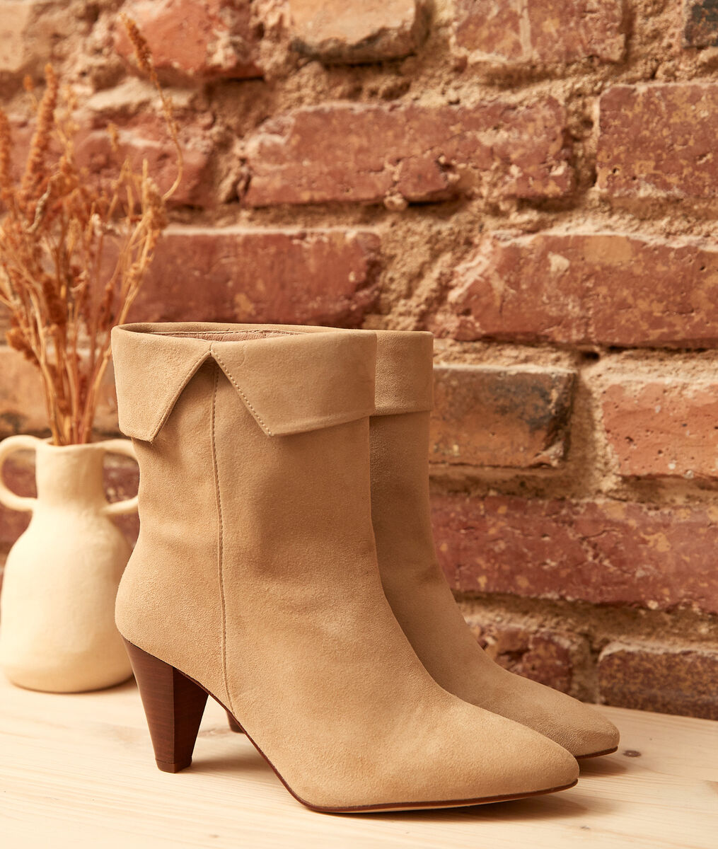Valencia cream high-heeled ankle boots  PhotoZ | 1-2-3