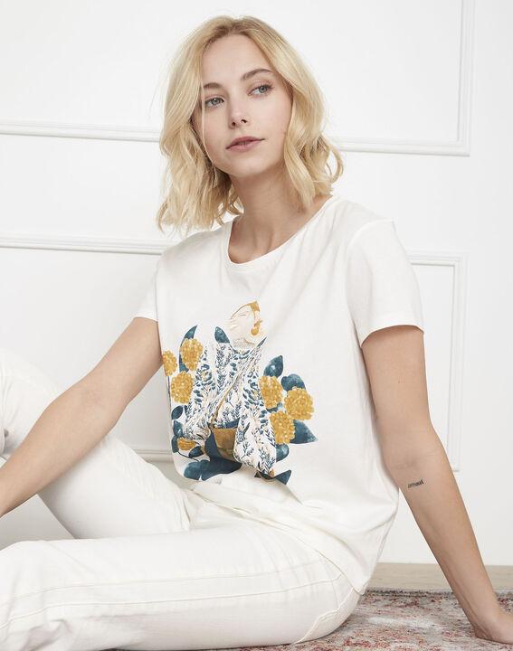 Petunia ecru printed T-shirt PhotoZ | 1-2-3