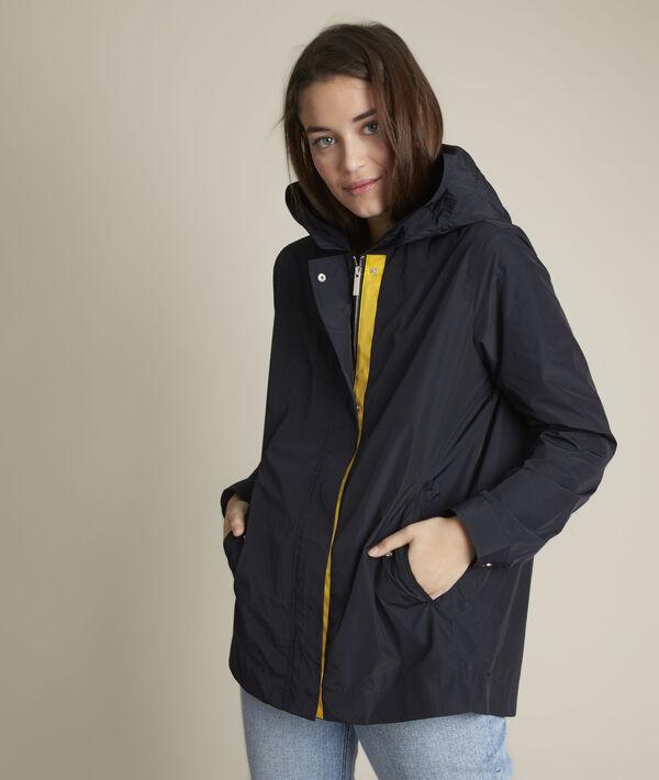 Fara navy blue hooded parka PhotoZ | 1-2-3
