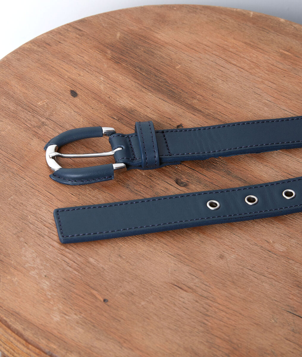 Eleonore navy leather belt PhotoZ | 1-2-3