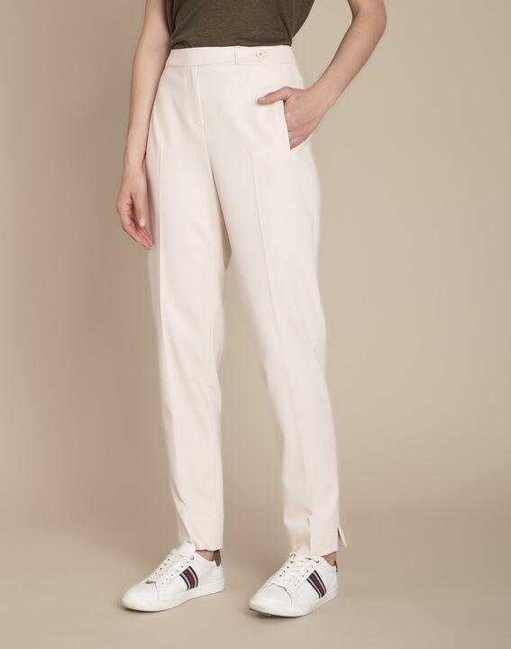 Lara powder-coloured cigarette trousers (1) - Maison 123