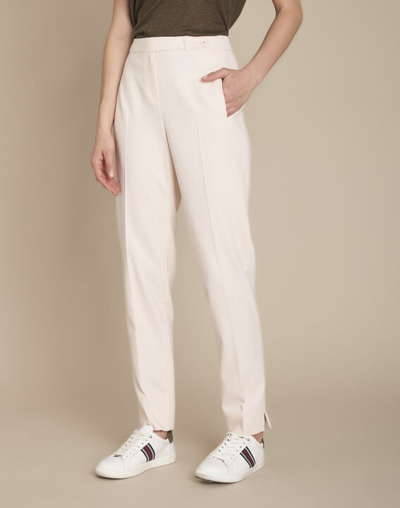 Lara powder-coloured cigarette trousers (1) - Maison 123