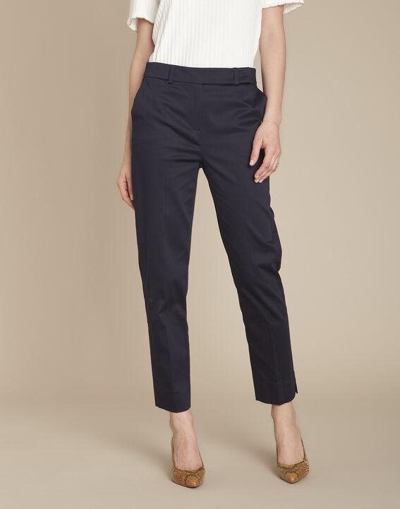 Rubis navy cigarette-cut trousers (1) - Maison 123