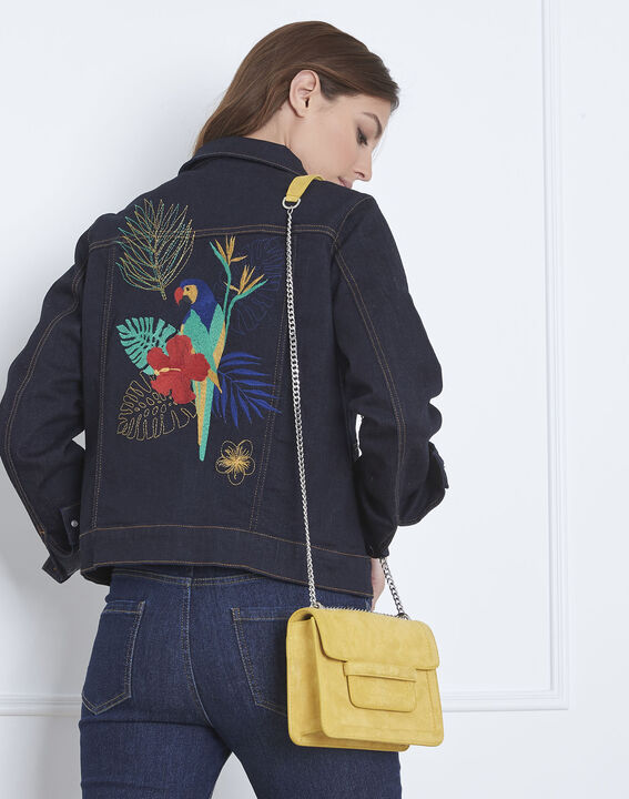 Famous jean jacket with parrot embroidery on the back PhotoZ | 1-2-3