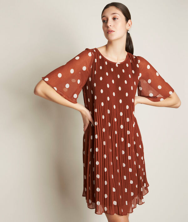 Coralia pleated polka dot dress PhotoZ | 1-2-3