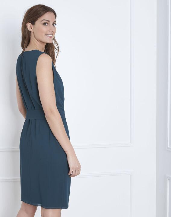 Harpe dark green draped dress (4) - Maison 123
