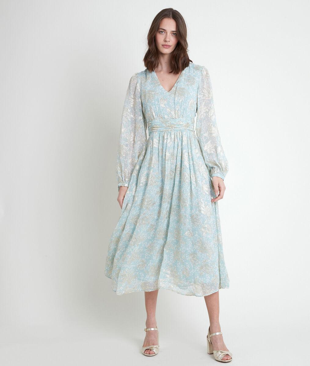 MARGOT printed lurex maxi dress PhotoZ   1-2-3