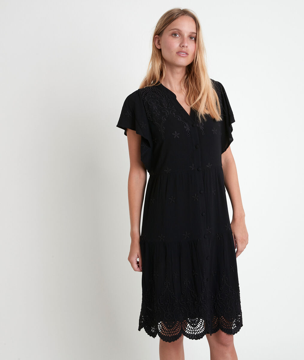 Loumea black embroidered dress PhotoZ | 1-2-3
