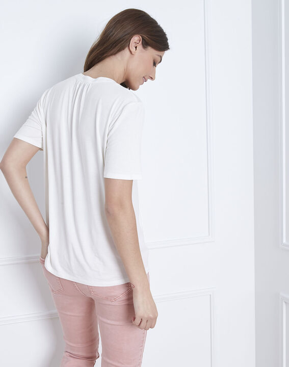 Viola laced blouse with white neck (4) - Maison 123