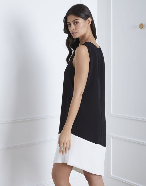 Horline black asymmetric dress (4) - Maison 123
