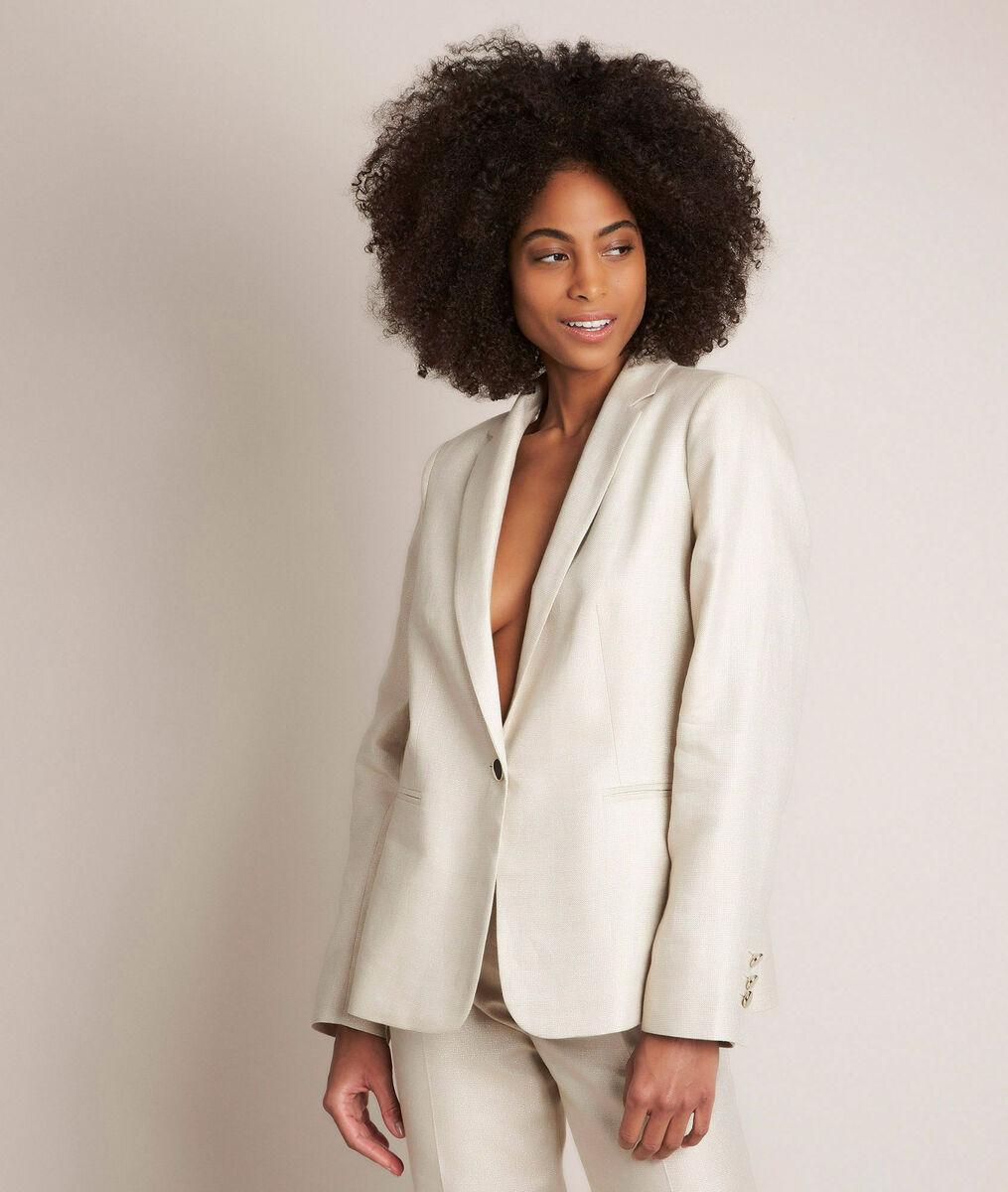 Lucile shiny linen jacket PhotoZ | 1-2-3