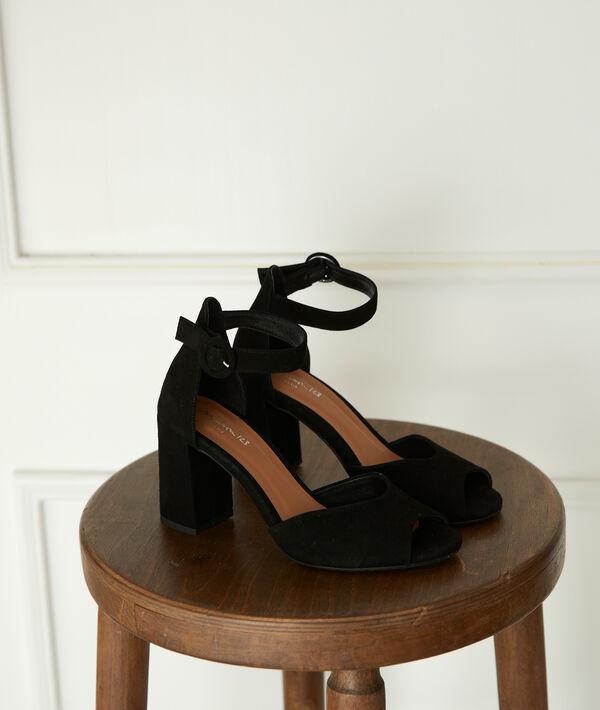 Jade Leather Heeled Sandals PhotoZ   1-2-3