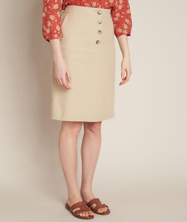 Blanche A-line linen skirt PhotoZ | 1-2-3