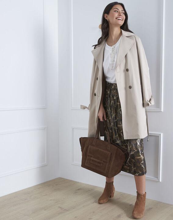 Sable pleated camo print skirt PhotoZ | 1-2-3