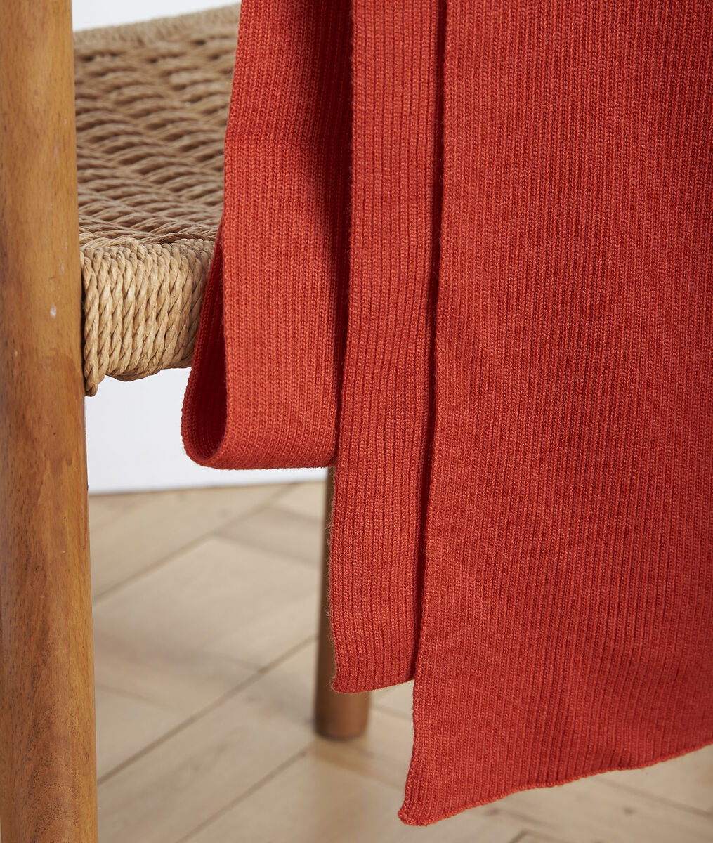 Gloraline terracotta ribbed scarf PhotoZ | 1-2-3