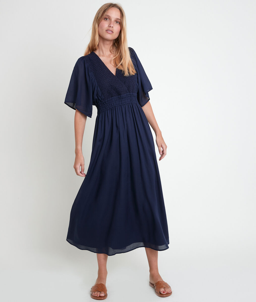 Lauretta blue embroidered dress PhotoZ | 1-2-3