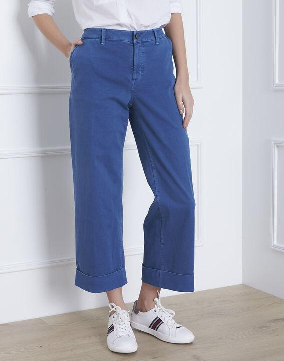Clara light indigo short flared jeans PhotoZ | 1-2-3