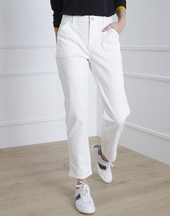 Coconut off-white 7/8 length boyfriend jeans (2) - Maison 123