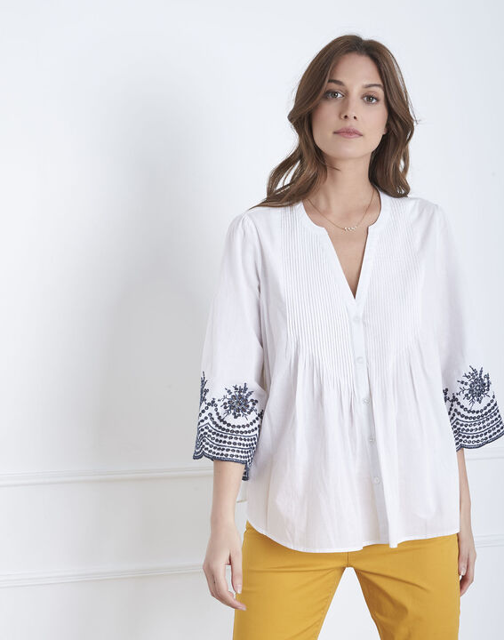 fe9520f1dd6 Valia white broderie anglaise blouse - Maison Cent Vingt-Trois