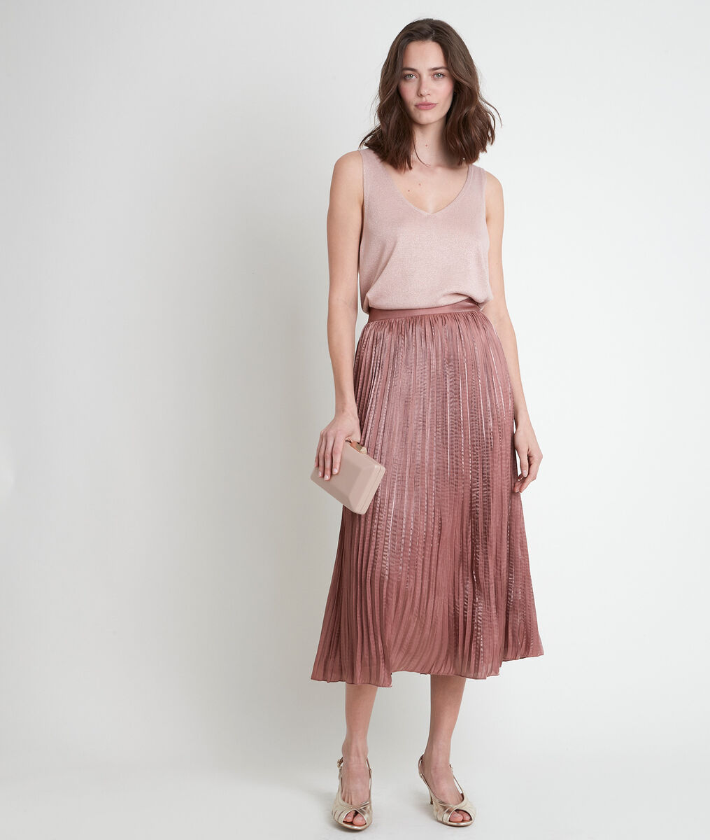 GRETA pink pleated skirt PhotoZ | 1-2-3
