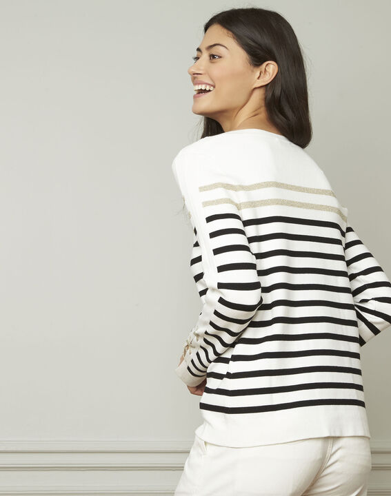 Amiral pullover with stripes and lacing details (3) - Maison 123