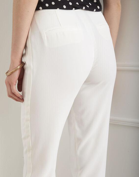 Hutch white crepe cigarette-cut trousers (3) - Maison 123