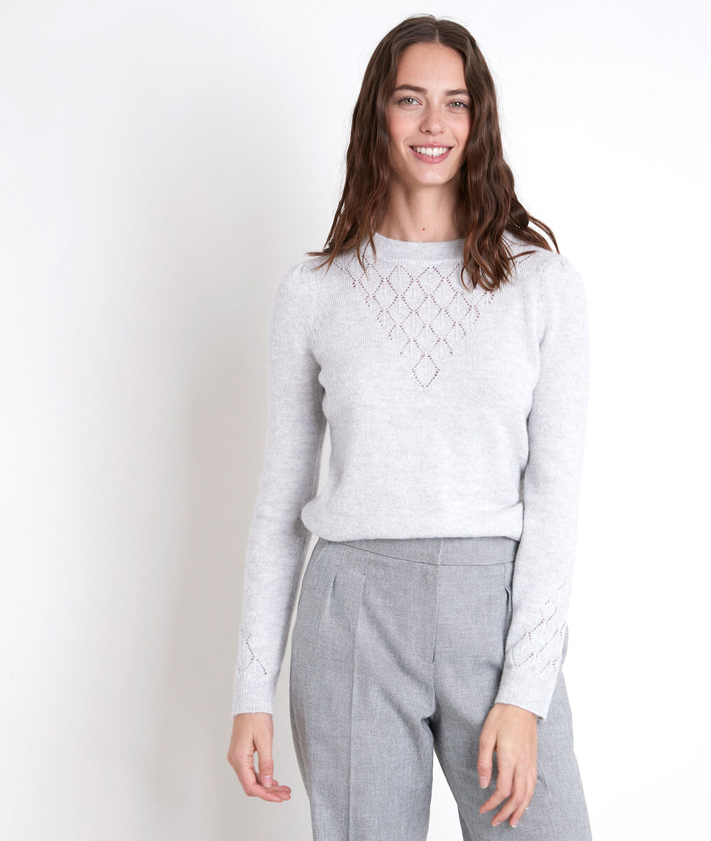 ALECK grey wool blend jumper PhotoZ | 1-2-3