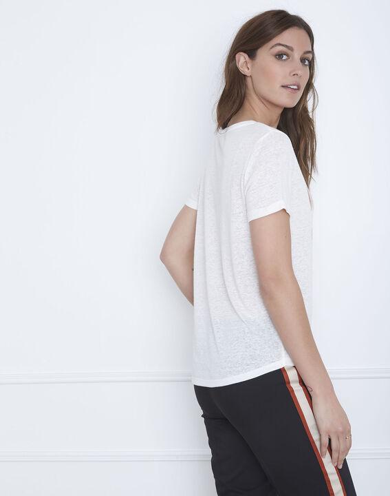 Patagonia ecru linen blend slogan T-shirt (4) - Maison 123