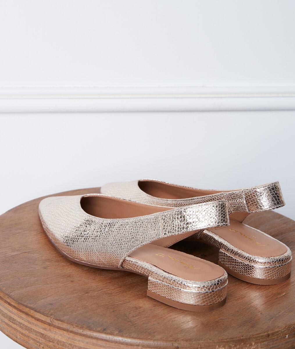 Gigi gold-coloured ballet flats PhotoZ   1-2-3