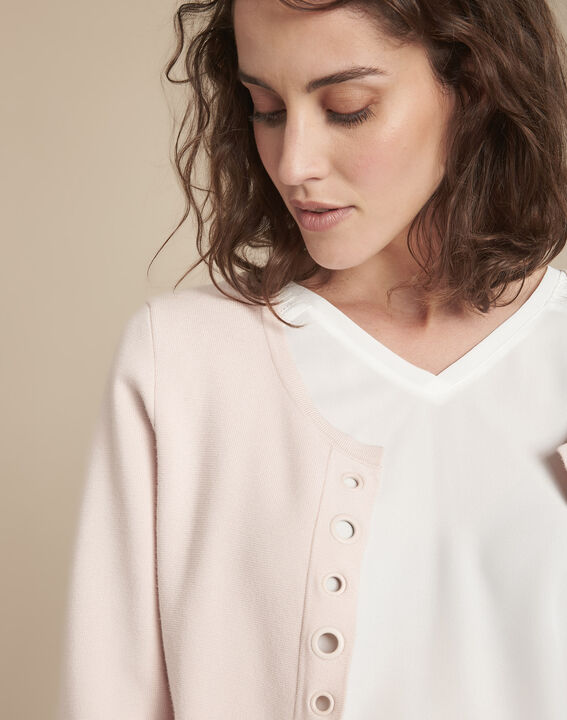 Abricotier powder cardigan with compact eyelets  (3) - Maison 123