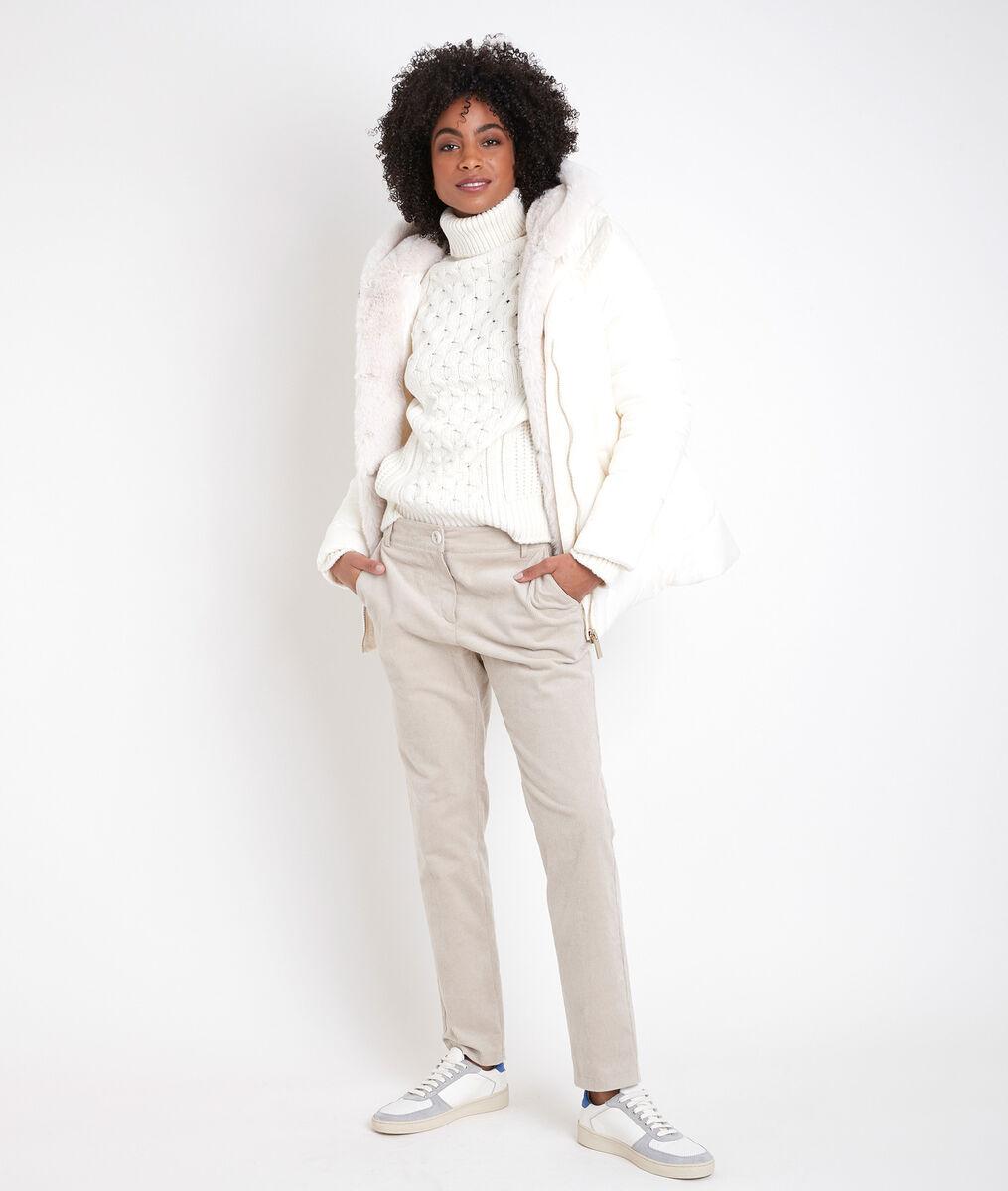 Baiko short down jacket with fake fur PhotoZ   1-2-3