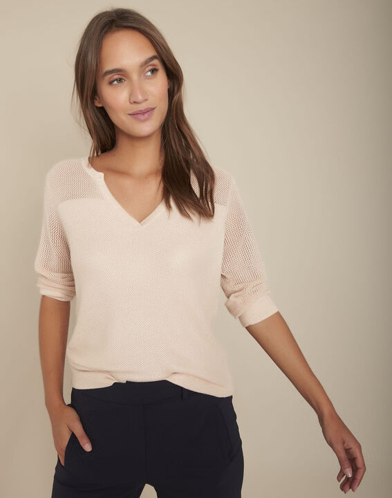 Forever pink openwork pullover PhotoZ | 1-2-3