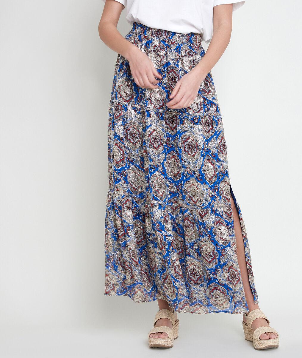 ESMA printed lurex maxi skirt PhotoZ | 1-2-3