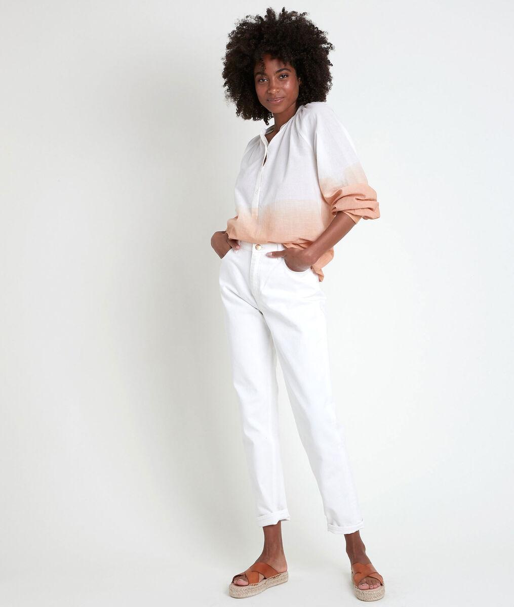TERRY beige tie-dye blouse PhotoZ | 1-2-3