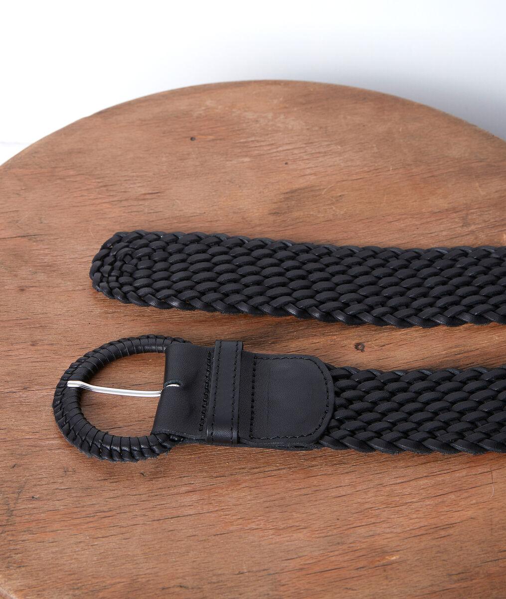 Sandie black leather braid belt PhotoZ   1-2-3