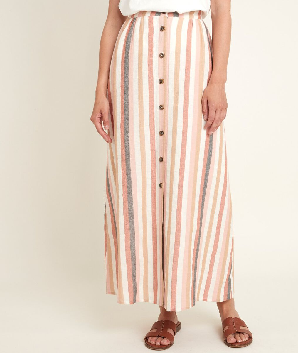 Genny striped buttoned skirt PhotoZ | 1-2-3