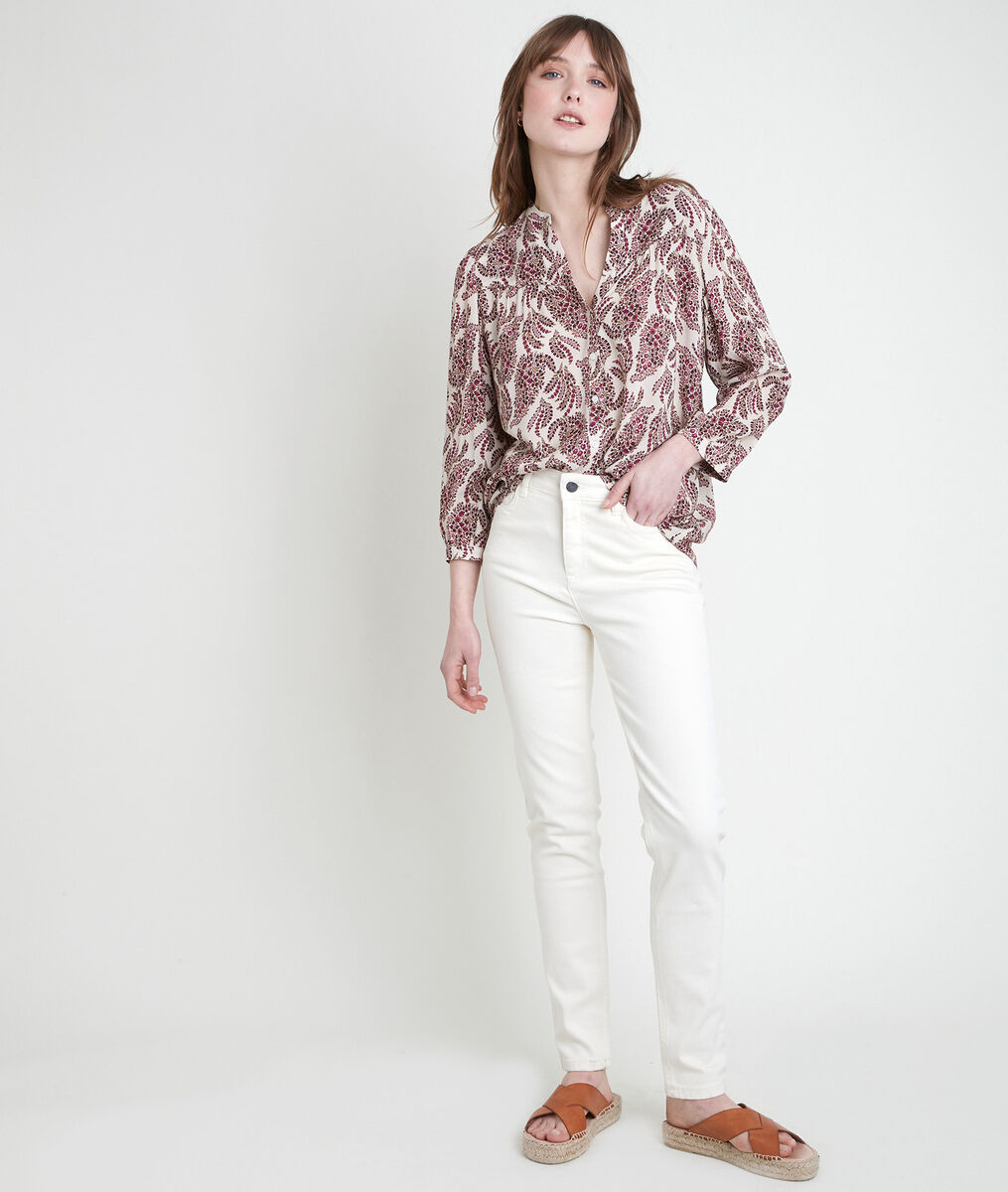 TERESE pink printed blouse PhotoZ | 1-2-3